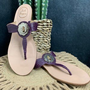 Jack Rogers Shoes - CLEARANCE Jack Rogers Lilah Purple Croc Sandals
